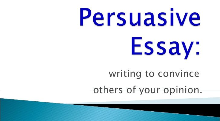 Custom essay writing persuasive essay