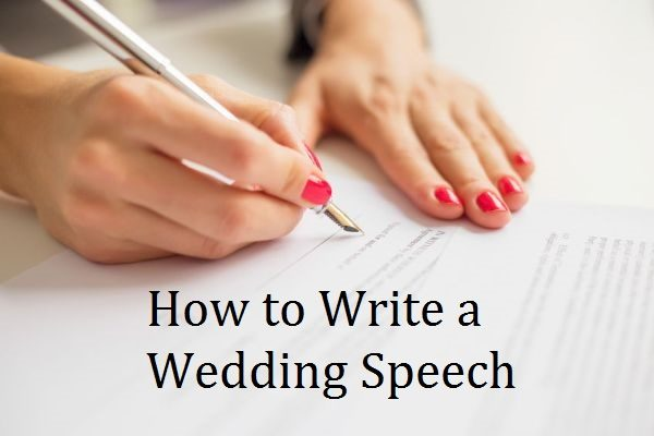 Write a Wedding Speech