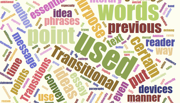 English transitions words