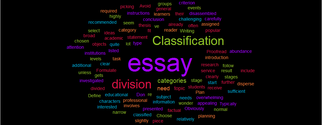 Classification and division essay