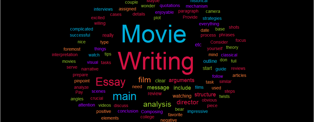 How do you write a movie essay