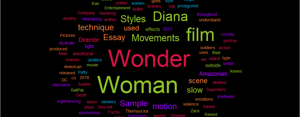 Essay Sample Wonder Woman Styles And Movements