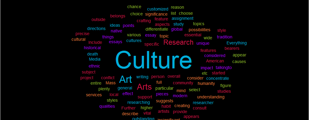 Research Paper on Arts and Culture