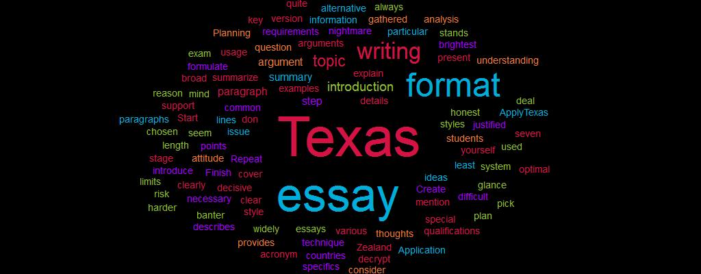 Texas Format Essay