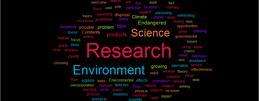 Science Environment Research Paper topics