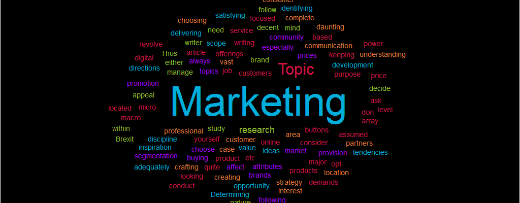 Marketing Paper Topic