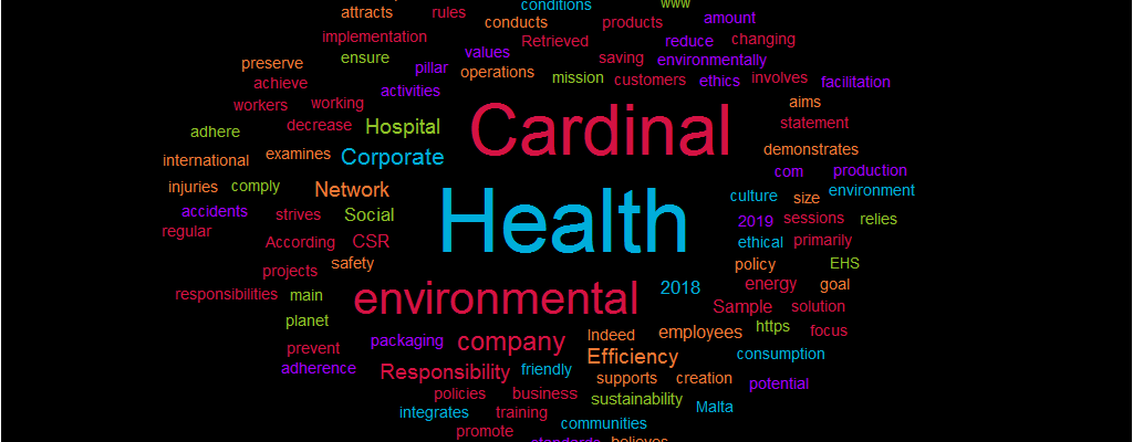 Course work Sample: Corporate Social Responsibility of Cardinal Health