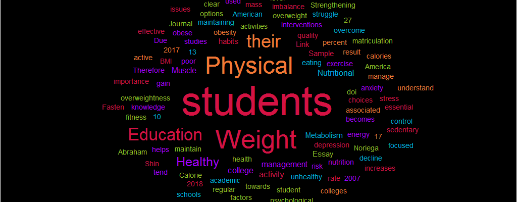Essay Sample: Link between Physical Education and Healthy Weight