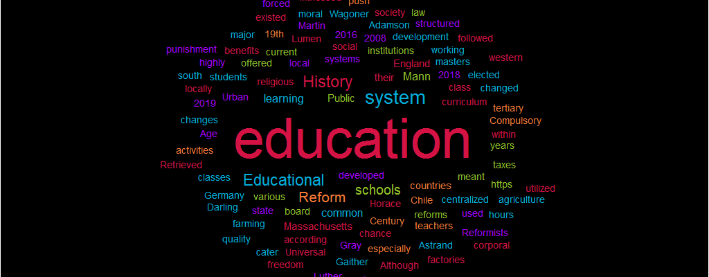 History of Educational Reform