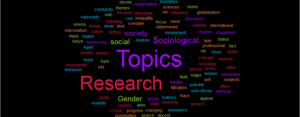 Sociological Research Paper Topics